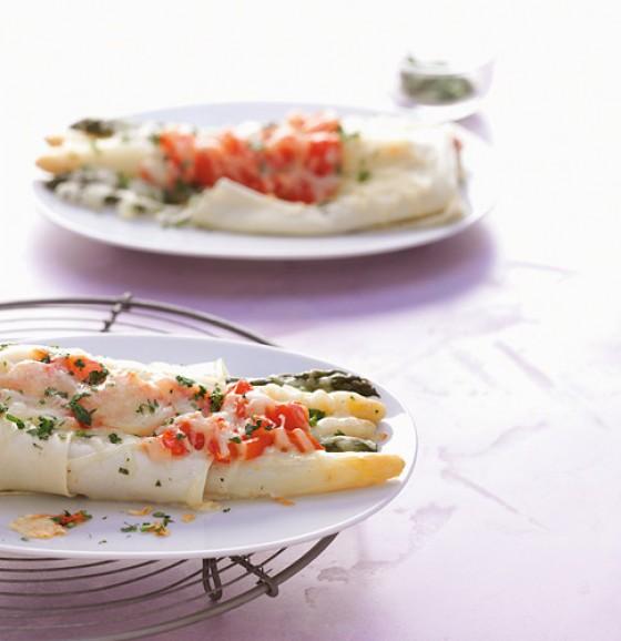 Spargel im Lasagneblatt