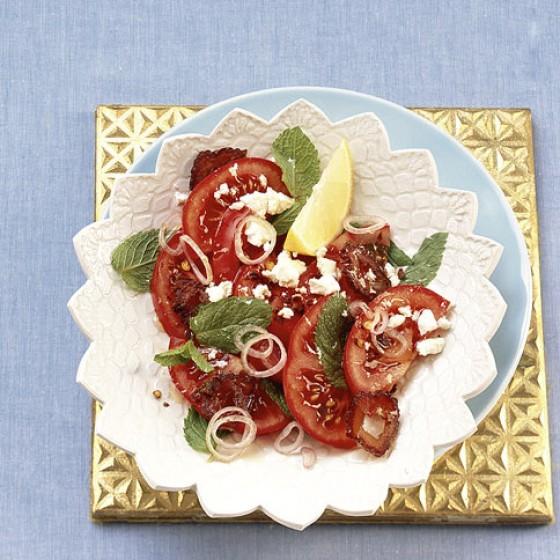 tomaten minze salat rezept essen und trinken. Black Bedroom Furniture Sets. Home Design Ideas