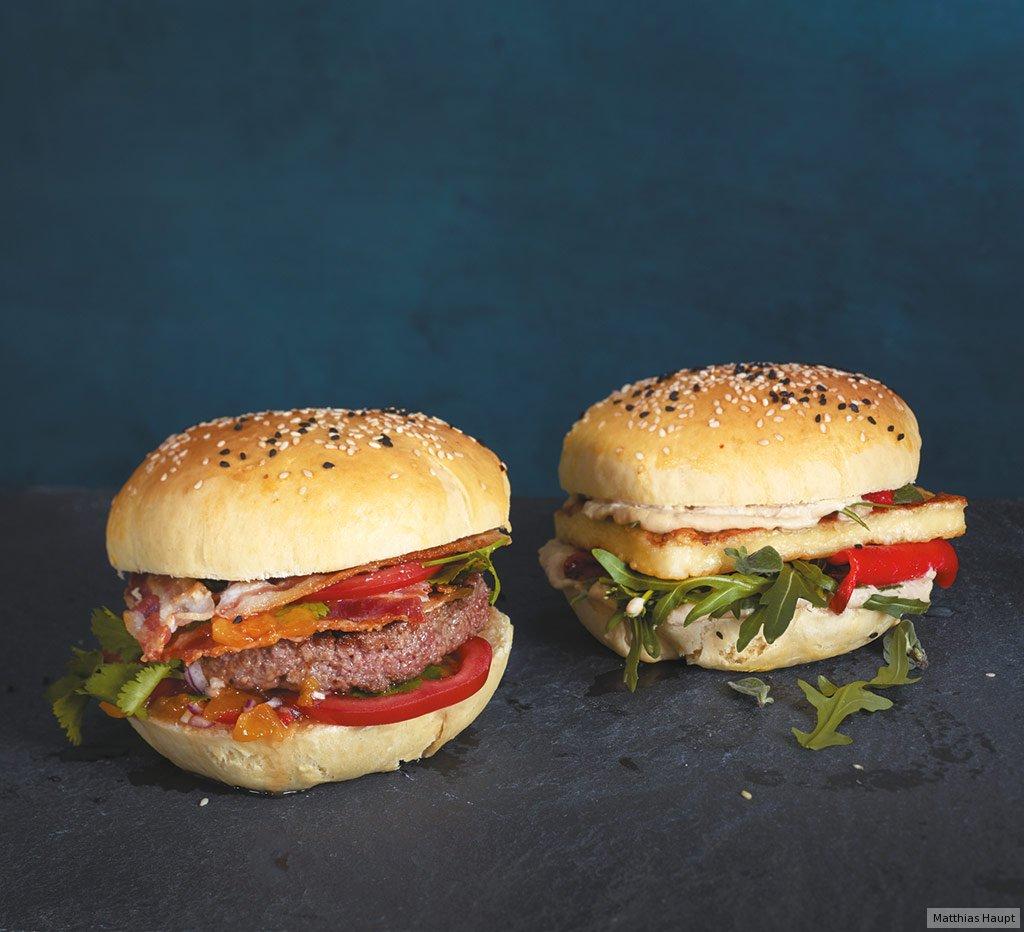 halloumi burger rezept essen und trinken. Black Bedroom Furniture Sets. Home Design Ideas