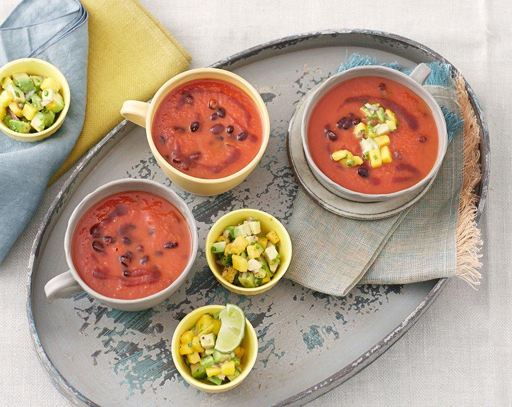 leicht scharfe bohnen tomaten suppe rezept essen trinken. Black Bedroom Furniture Sets. Home Design Ideas