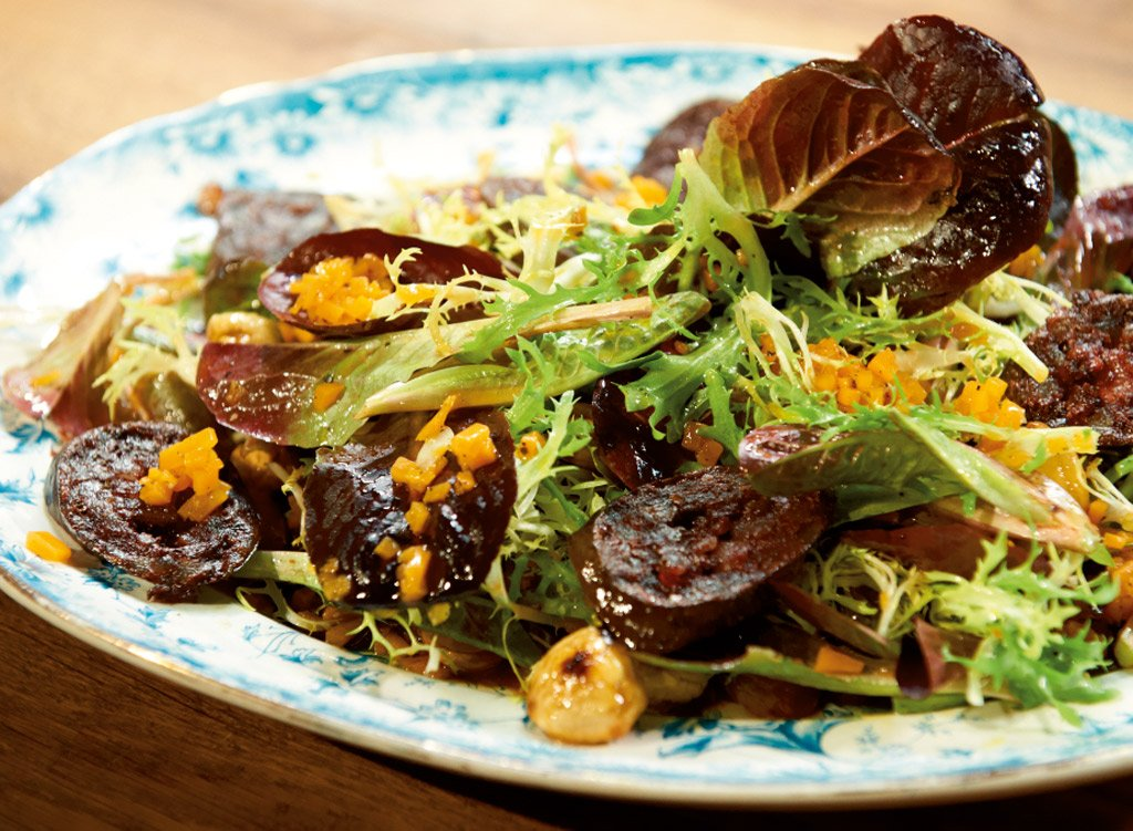 salat mit k rbis vinaigrette und maronen rezept essen. Black Bedroom Furniture Sets. Home Design Ideas