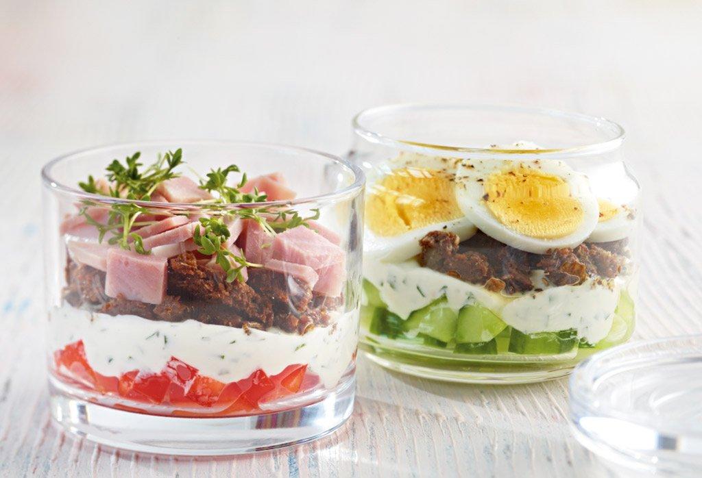 schinken sandwich im glas rezept essen trinken. Black Bedroom Furniture Sets. Home Design Ideas