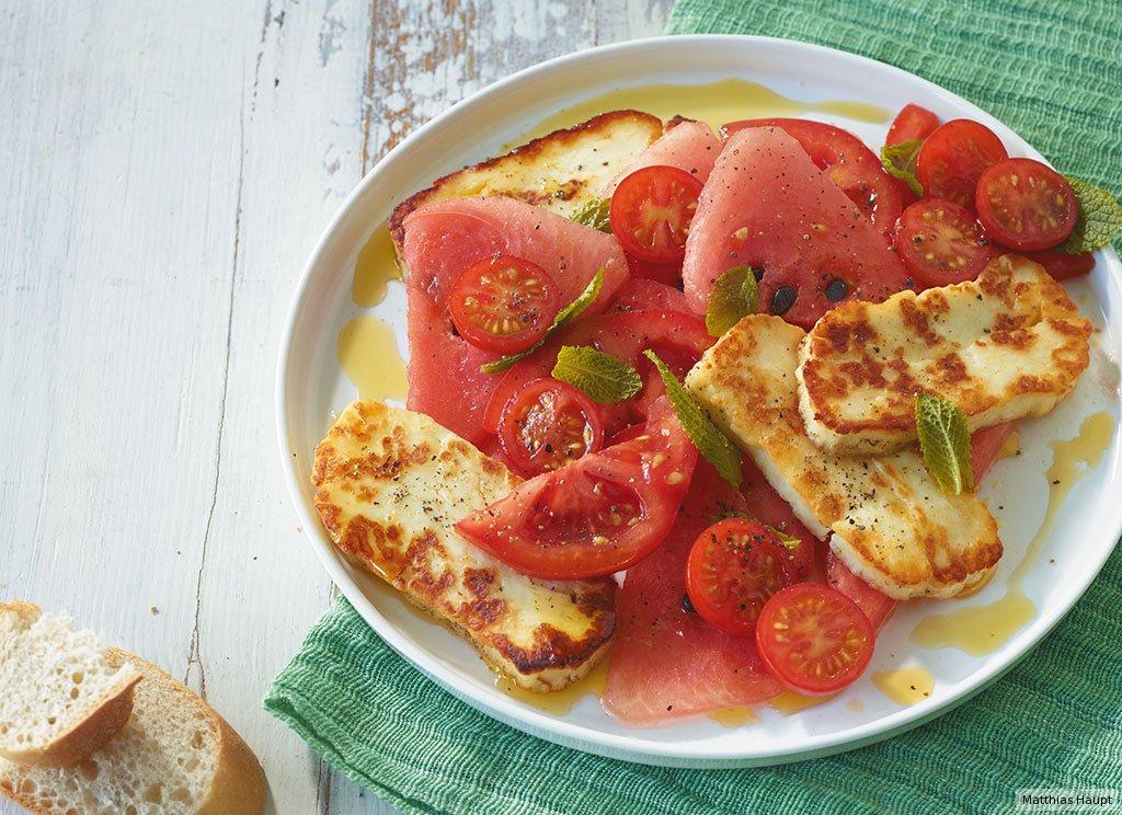 tomaten melonen salat rezept essen trinken. Black Bedroom Furniture Sets. Home Design Ideas