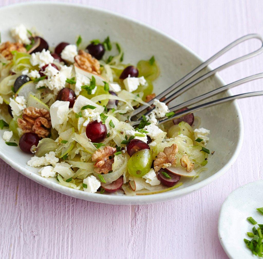 Salat mit feta und trauben
