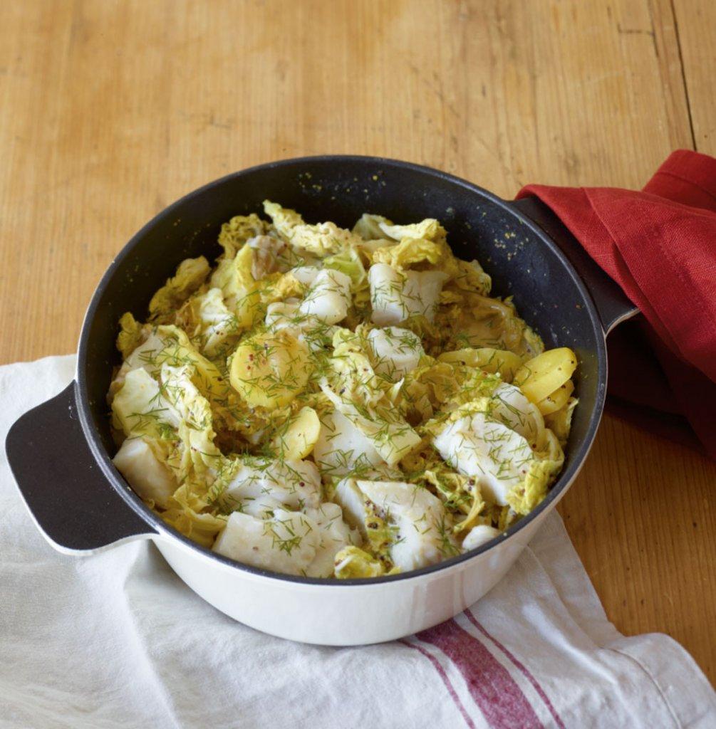 Schnelle Blechkuchen Rezepte Mit Bild: Wirsing-Fisch-Topf Rezept