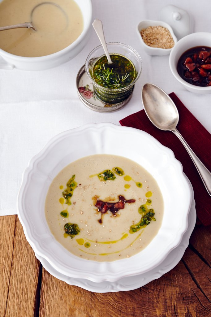cremige maronen kartoffel suppe rezept essen und trinken. Black Bedroom Furniture Sets. Home Design Ideas