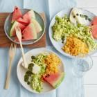 Couscous und Spitzkohl mit Halloumi und Minzöl