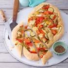 Focaccia mit Gemüse und Fenchelsaat