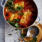 Kabeljau in Tomaten-Salzzitronen-Sugo