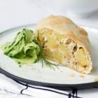 Kartoffel-Räuchfisch-Strudel