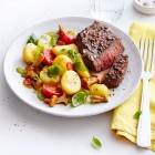 Kartoffelsalat mit Hüftsteak