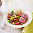 Lammrücken mit Auberginen-Zucchini-Gemüse