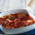 Mettbällchen in Tomaten-Fenchel-Sauce