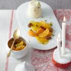 Orangencreme mit Zitruskompott