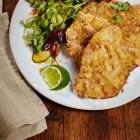 Panko-Schnitzel mit Asia-Salat
