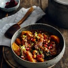 Rinder-Kartoffel-Eintopf mit Granatapfel