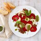 Rote-Bete-Apfel-Carpaccio mit Linsen