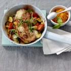 Schnitzel mit Pfannengemüse