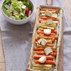Topinambur-Tarte mit Möhren und Pastinaken