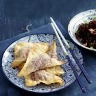 Marinierter Rotkohlsalat mit Ingwer und Thaibasilikum