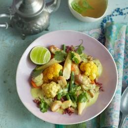 Gemüse-Curry mit rotem Reis