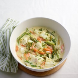 Gemüse-Ragout mit Kabeljau