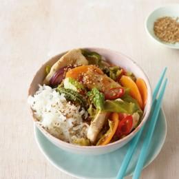 Hähnchen mit Asia-Gemüse