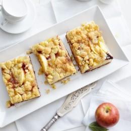 Holunder-Apfel-Streuselkuchen