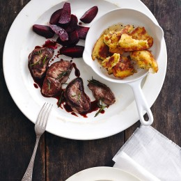Kartoffelschmarren mit Rehschnitzel