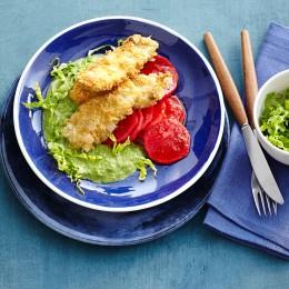 Knusperscholle mit Römersalat und Rettich