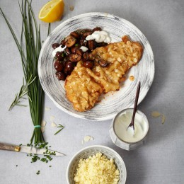 Rezept des Tages: Mandelschnitzel mit Champignons