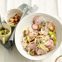 Wurstsalat mit Rettich