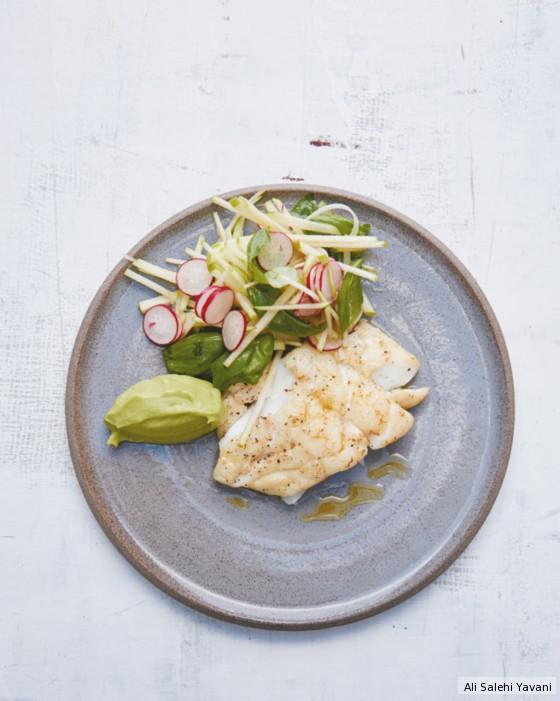 Avocadopüree mit Fisch