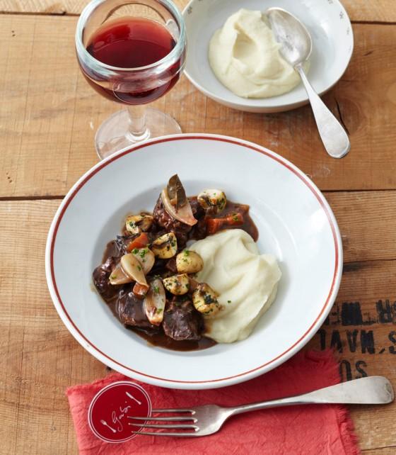 Bœuf bourguignon mit Orangenschale