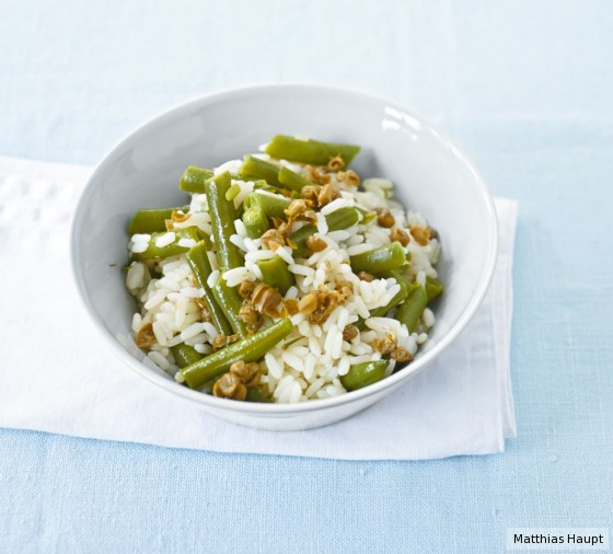 Bohnen-Kapern-Reis