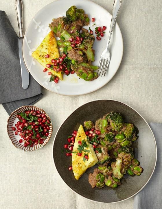 Brokkoli-Amaranth-Gemüse