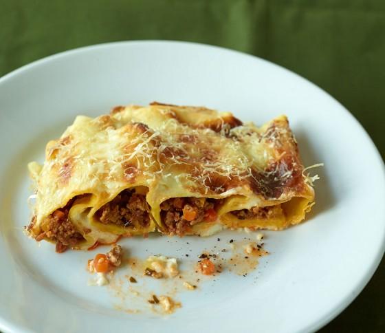 Cannelloni mit Hackfleischfüllung