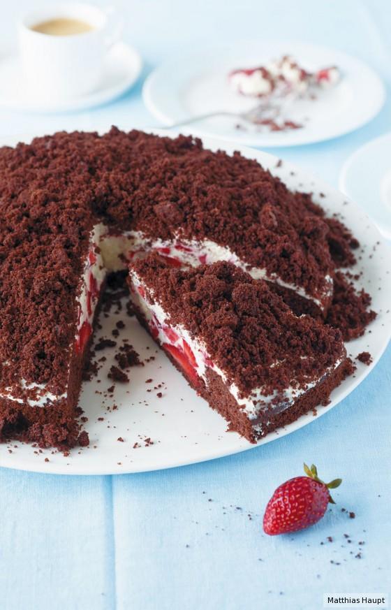 Erdbeer-Maulwurf-Torte