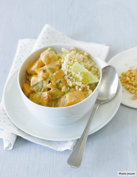 Erdnuss-Tofu-Curry