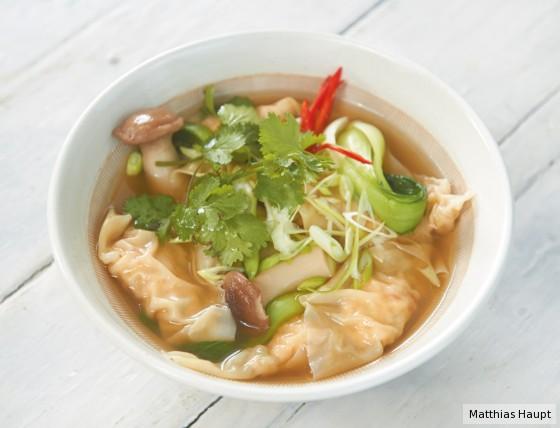 Garnelen-Wan-Tan-Suppe