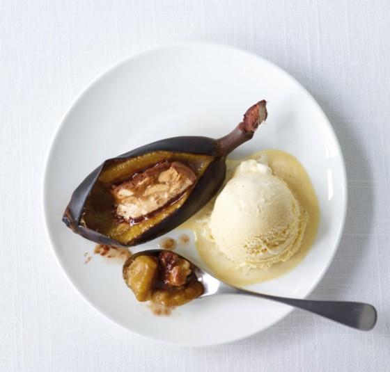 Gebackene Schoko-Bananen