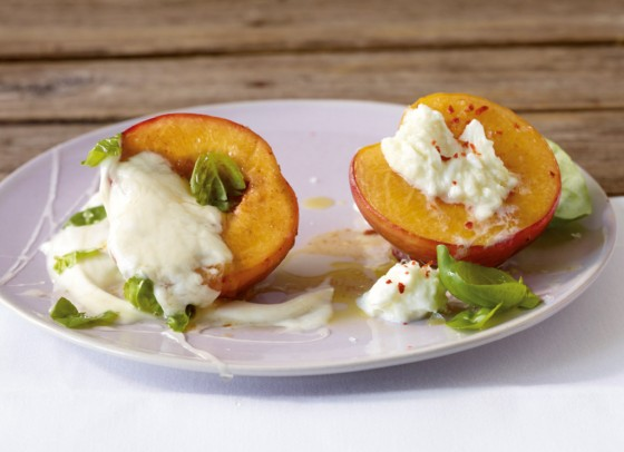 Gebratene Pfirsiche