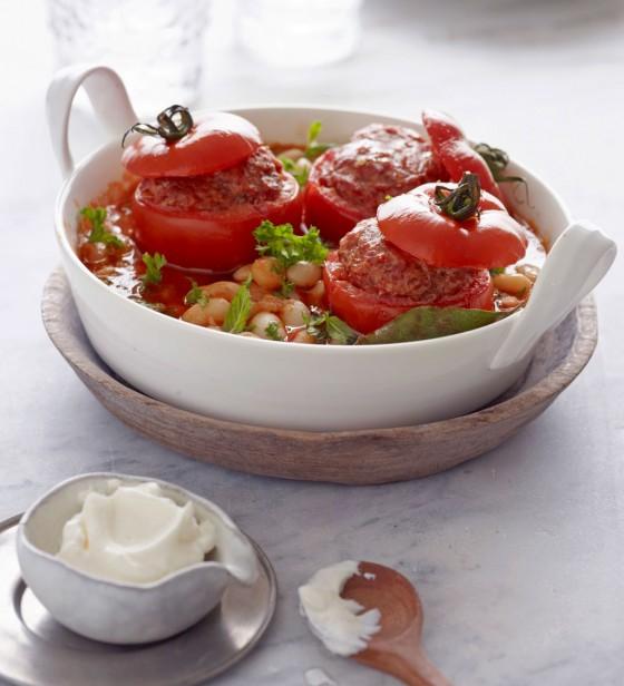 Gefüllte Tomaten mit Palbohnen
