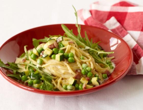 Gemüse-Carbonara