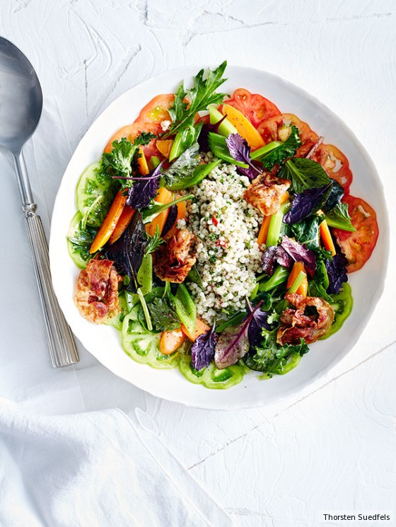 graupen tomaten salat mit pancetta rezept essen trinken. Black Bedroom Furniture Sets. Home Design Ideas