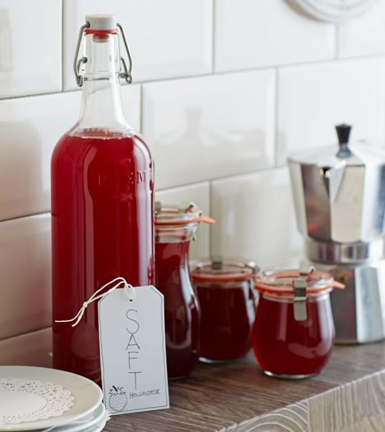 Grundrezept Erdbeersaft