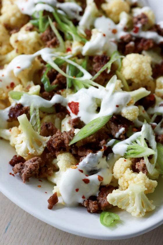 Hack-Blumenkohl-Salat