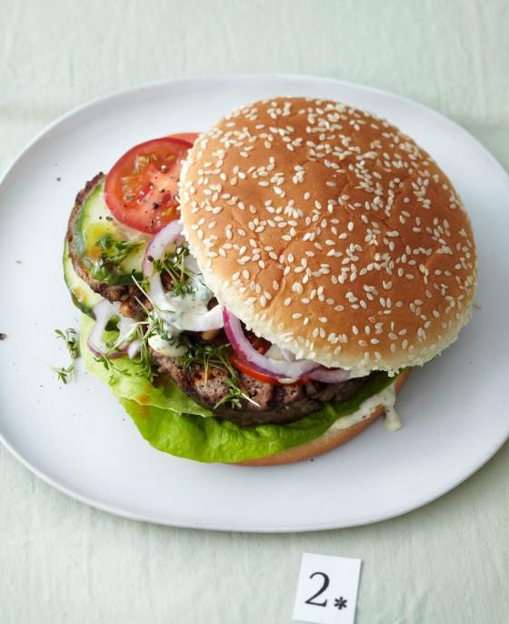Hackbraten-Burger