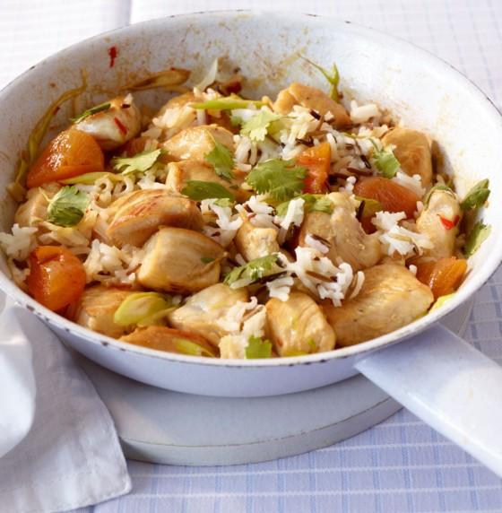 Hähnchen-Reis-Pfanne