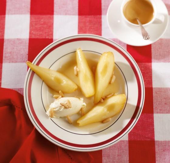 Honig-Birnen mit Mascarpone